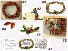 7 RARE MINT Tasha Tudor Illustrated Unused Labels or Bookplates Great condition