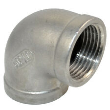 """304 Stainless Steel 1"""" Elbow 90 Degree Angled Pipe Fitting Female Threaded BSPT"""