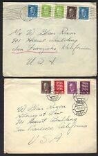ESTONIA 1937 US TWO COVERS TARTU TO SAN FRANSCISCO CALIFORNIA