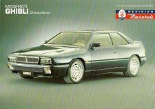 Maserati Ghibli 2.8 1992-94 UK Market Leaflet Sales Brochure