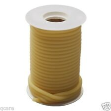 "50 ft Reel 1/8 ID x 1/16 x 1/4 OD Surgical Amber Latex Rubber Tubing w "" feet"