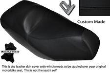 BLACK STITCH CUSTOM FITS PIAGGIO XEVO 125 DUAL LEATHER SEAT COVER
