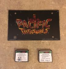 """Bally """"Pacific Treasures"""" Slot Machine insert w/Game Software FREE SHIP!! A2-4"""