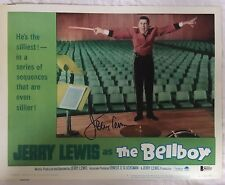 JERRY LEWIS Signed The Bell Boy Original Lobby Card Beckett BAS COA Proof #19