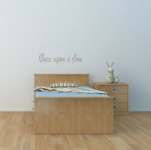 Once upon a time wall art sticker children's bedroom Home decor nursery diy