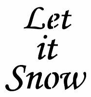 Let it Snow Christmas Stencil Card making Christmas Crate Stencil Christmas Eve
