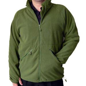 British Army Olive Green Full Zip Thermal Liner Fleece Jumper USED Grade1