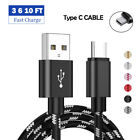 Charging Cable Type C USB C Fast Charger Cord For Samsung Galaxy S8+ S9+ S10 S21