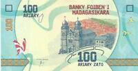 MADAGASCAR 100 Ariary 🌎💷 UNC; P-97; 2017 🐸 FROG 🐸 and 🦋 Butterflies 🦋