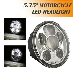 5.75'' LED Headlight Projector Hi/Lo beam Motorcycle Light DRL For Harley Dyna