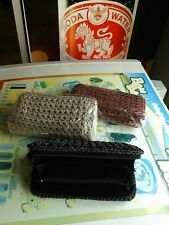 NEW Wallet Black Hand woven cotton HANDMADE IN THAILAND POCKET MONEYS WOMENS