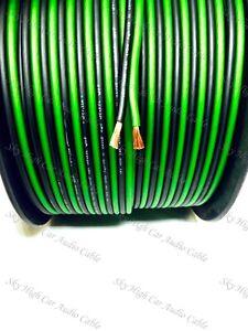 200' feet TRUE 12 Gauge AWG GR/BK Speaker Wire W/ SPOOL Car Home Audio ft GA