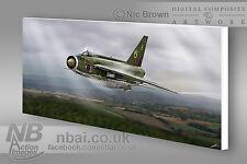 F.2A Lightning 19 Squadron, RAF Gutersloh CANVAS PRINT, Digital Artwork.