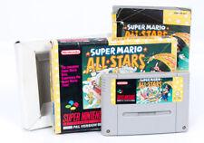 SUPER MARIO ALL STARS IN SCATOLA-SUPER NINTENDO SNES PAL cartuccia gioco retrò