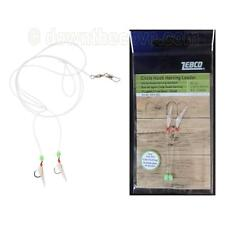 Zebco Circle Hook Herring Leader Rig with 2 Hooks - Real Fish Skin - 1st Class!