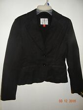 ESPRIT Trendy Solid Black Blazer/Jacket Size 4 Lightweight and Fitted