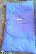 Babybett Kinderbettdecke echtes Federbett Zudecke Bettdecke blau gesteppt TOP