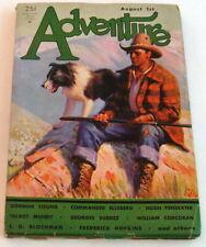 Adventure Pulp. Aug., 1932, Mundy, Young, Blochman, Surdez, VG+ 4.5