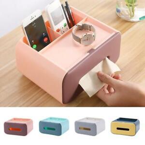 Tissue Box Holder Covers Rectangular Square Wipes Storage Home Paper Box Plastic