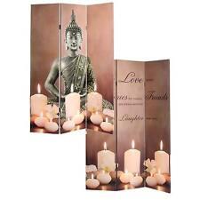 LED-Paravent Candles, Trennwand, Timer netzbetrieben 180x120cm 9 LEDs