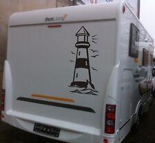 KFZ Aufkleber , Leuchtturm, Wohnwagen, Meer, Autoaufkleber, 1000 mm x 450 mm