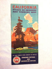 New ListingVintage 1946 California Points of Interest and Touring Map Chevron Oil Company