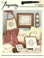 Imaginating- I Love Country - Counted Cross Stitch Pattern 1987 Vintage