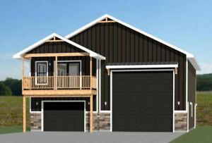 36x42 Apartment with 1-Car 1-RV Garage -- PDF Floor Plan -- 961 sqft -- Model 2B