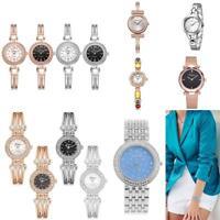 Women's Starry Crystal Dial Bracelet Wrist Watch Ladies Analog Quartz Wristwatch