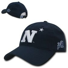 NCAA United States Naval Academy 6 Panel Relaxed Cotton Baseball Caps Hats Navy