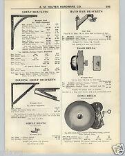 1926 PAPER AD Locomotive Gong Bell Door Bell