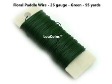 Green Floral Arrangements and Holiday Decorating 3 Pack 20 Gauge Garland 234 Total Feet BULK PARADISE Green Flexible Paddle Wire for Wreath Tree