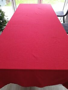 John Lewis Large Rectangle Red Sparkly Christmas Table Cloth 285 x 160
