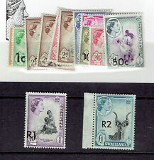 SWAZILAND #67-79 overprint traditional dress animals mining map MINT NEVER HINGE