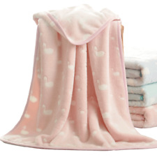 baby blanket velvet soft blankets for kid small blanket throws swan pattern new