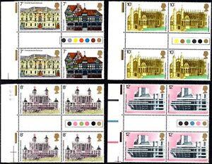 1975 Sg 975/979 Architecture Traffic Light Gutter Pairs (Margin) Set of 5 UMM