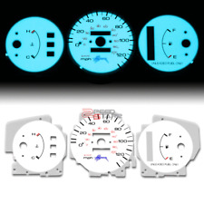 INDIGLO GLOW GAUGE+HARNESS BLUE FACE FOR 92-95 HONDA CIVIC DX LX CX NO TACH AT
