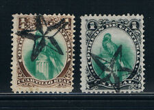 More details for guatemala 1879 resplendent quetzal real values used star cancels sg 15-16