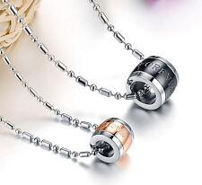 2x Partner Halskette Kette Anhänger Edelstahl  Love Forever Necklace Lovers neu