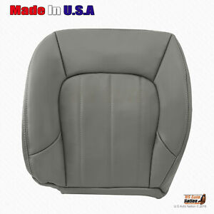 2002 2003 2004 2005 GMC Envoy Front DRIVER Bottom Leather Gray Seat Cover *NEW*