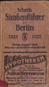 uralt == Scherls Straßenführer durch Berlin 1925 Adressbuch???