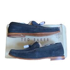 Ted Baker Douggue Loafer blue suede 11 M US  Mens shoe