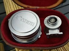 Canon 35mm f2.8 Leica thread mount lens, L39 and finder, case, mint, LTM