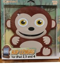 Kids Cover iPad 2,3 & 4 Silicone Animal Monkey Fun  Protective Case Brown