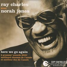 RAY CHARLES avec NORAH JONES - He We Go Again - RARE FRENCH CD SINGLE - 2005