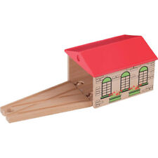 Engine Shed for Wooden Railway Train Set 50942 - Brio Bigjigs Compatible