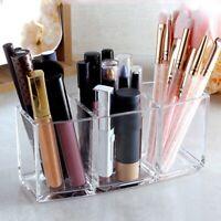 Fashion 3 Slot Vencer Makeup Brush Holder Organizer Acrylic Cosmetics Brushes
