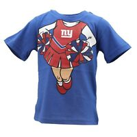 New York Giants NFL Team Apparel Infant Toddler Girls Size T-Shirt New with Tags