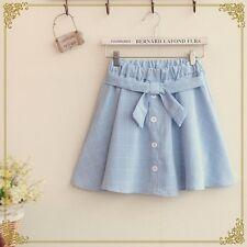 Mori Lolita Kawaii Cute Fashion Skirt Mini Belted Cosplay Anime Girl Korean Bow