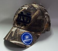 newest de961 4ace3 Notre Dame Crew Hat Adjustable Cap Top of The World Realtree Max5